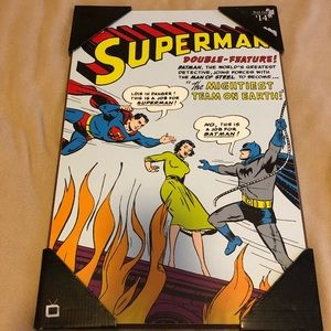 Other - FATHERS DAY SALE Superman Batman comic wall decor